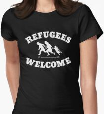 Refugees Welcome Women's Fitted T-Shirt