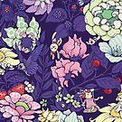 The Garden Party - blueberry tea version by Lidija Paradinovic Nagulov