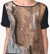 claw marks on the trunk of the tree Women's Chiffon Top