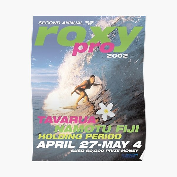 2002 roxy surf poster Poster