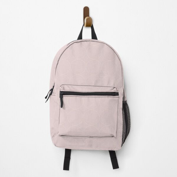 Cottagecore Pink and White Circle Pattern Backpack