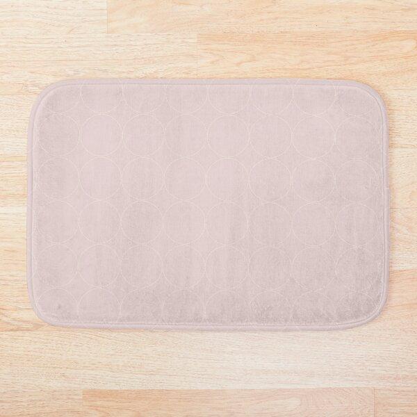 Cottagecore Pink and White Circle Pattern Bath Mat