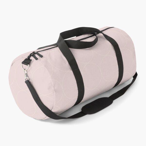 Cottagecore Pink and White Circle Pattern Duffle Bag