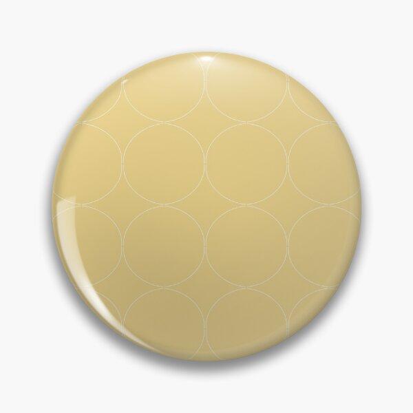 Cottagecore Yellow Circle Pattern Pin