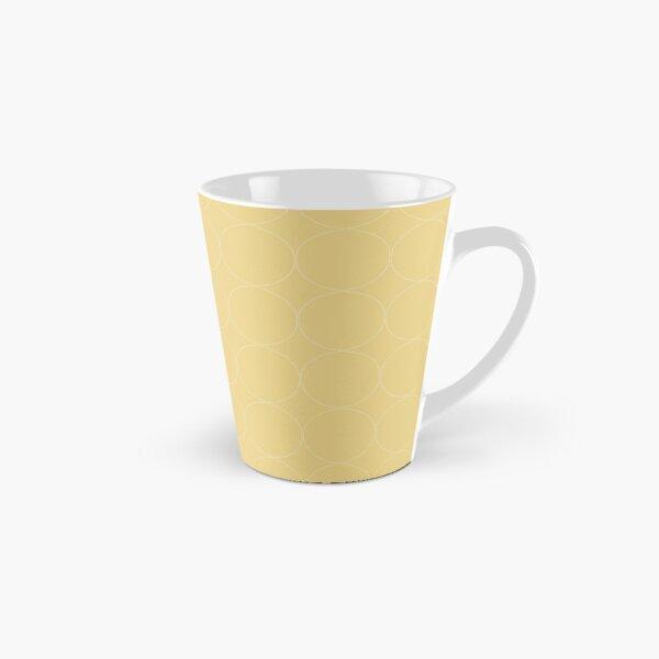 Cottagecore Yellow Circle Pattern Tall Mug