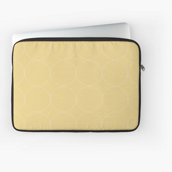 Cottagecore Yellow Circle Pattern Laptop Sleeve