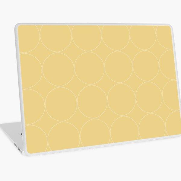 Cottagecore Yellow Circle Pattern Laptop Skin