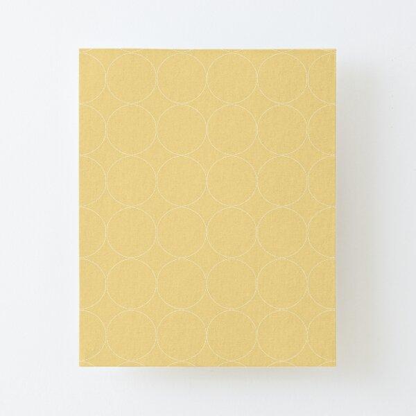 Cottagecore Yellow Circle Pattern Canvas Mounted Print