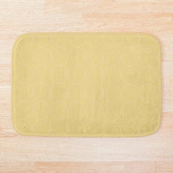 Cottagecore Yellow Circle Pattern Bath Mat