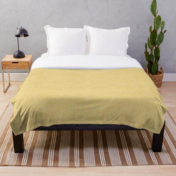 Cottagecore Yellow Circle Pattern Throw Blanket