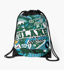 Tulane Collage  Drawstring Bag