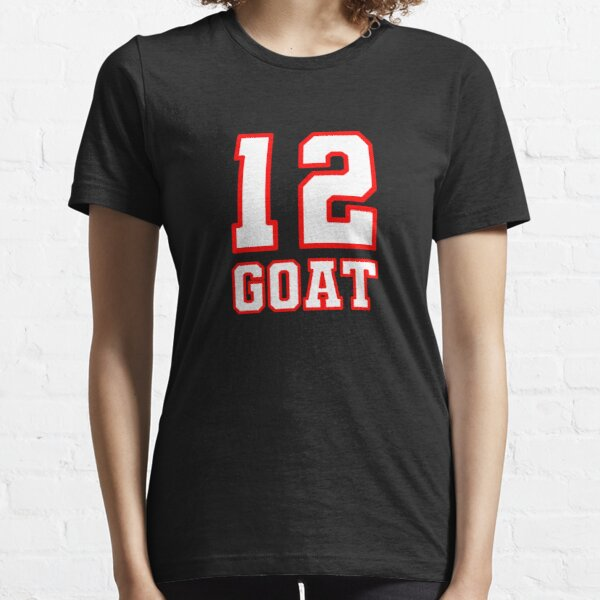 12 GOAT Greatest Of All Time Football Champion Essential T-Shirt