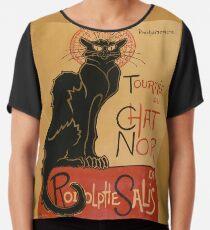 Le Chat Noir - Die schwarze Katze Chiffontop