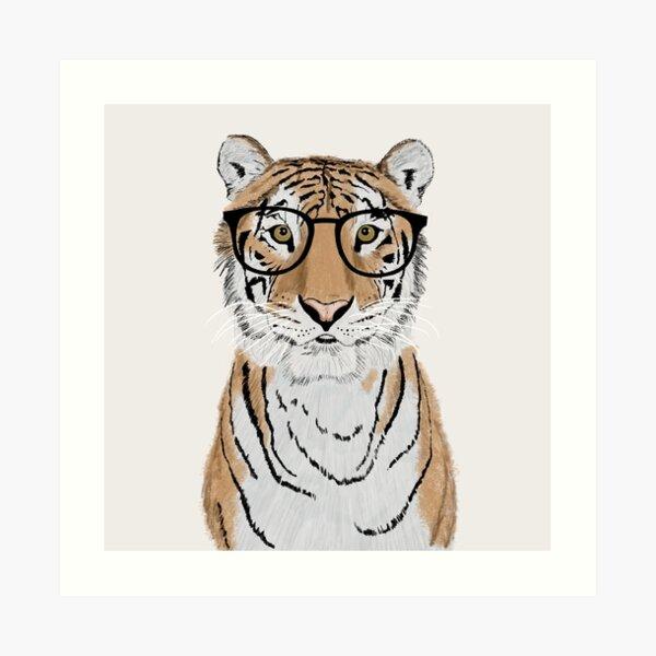Clever Tiger Art Print
