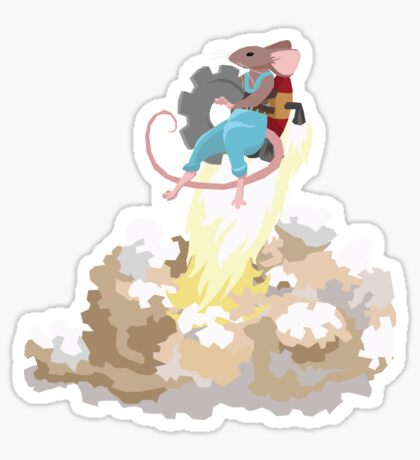 Mouse with Jetpack Sticker