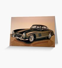 Mercedes Benz 300 SL Painting Greeting Card