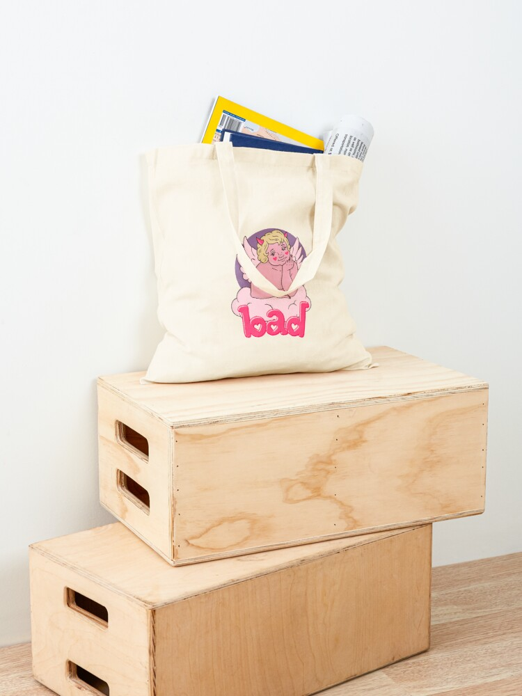 Alternate view of BAD CHERUB - pink Tote Bag