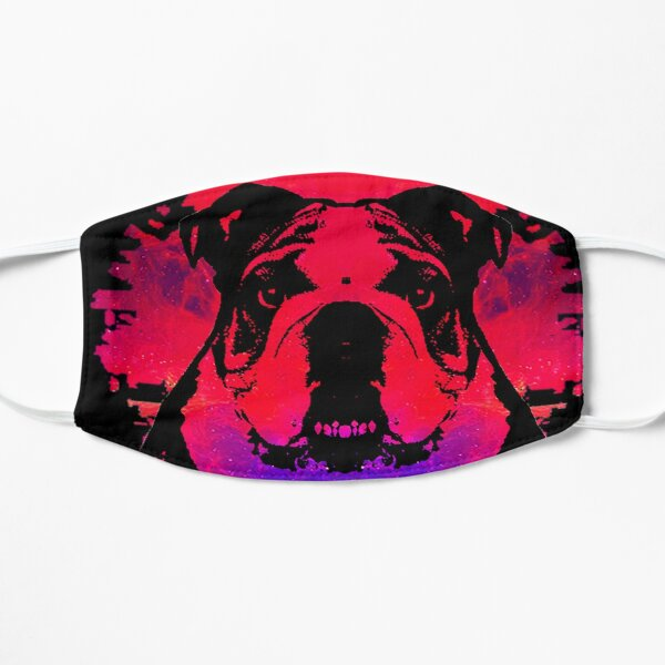 Colorful Artistic Dog Flat Mask
