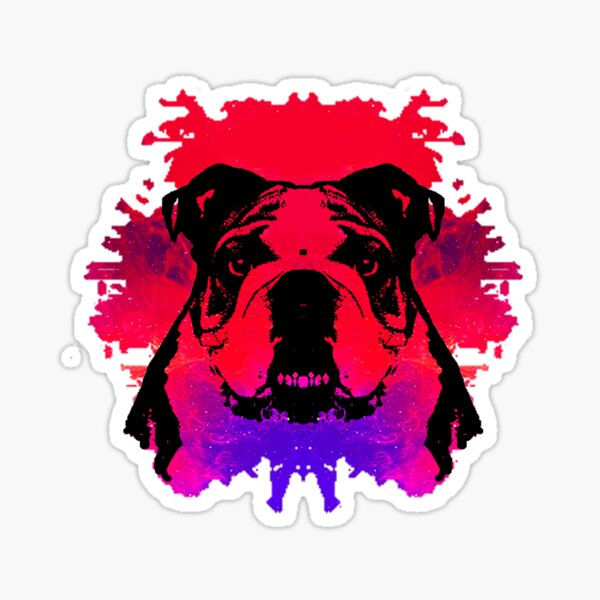 Colorful Artistic Dog Sticker