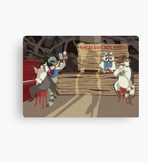 Raccoon Saloon Canvas Print