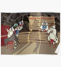 Raccoon Saloon Poster