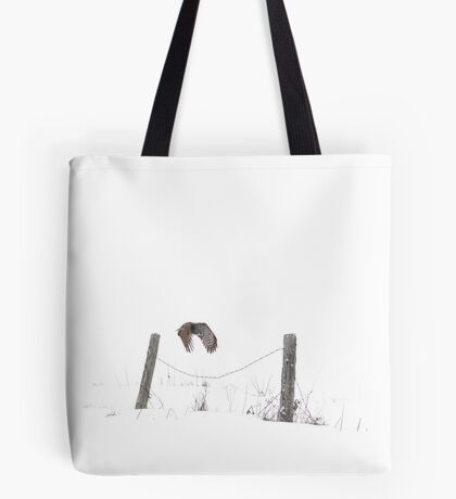 Post to Post - Great grey owl Tote Bag