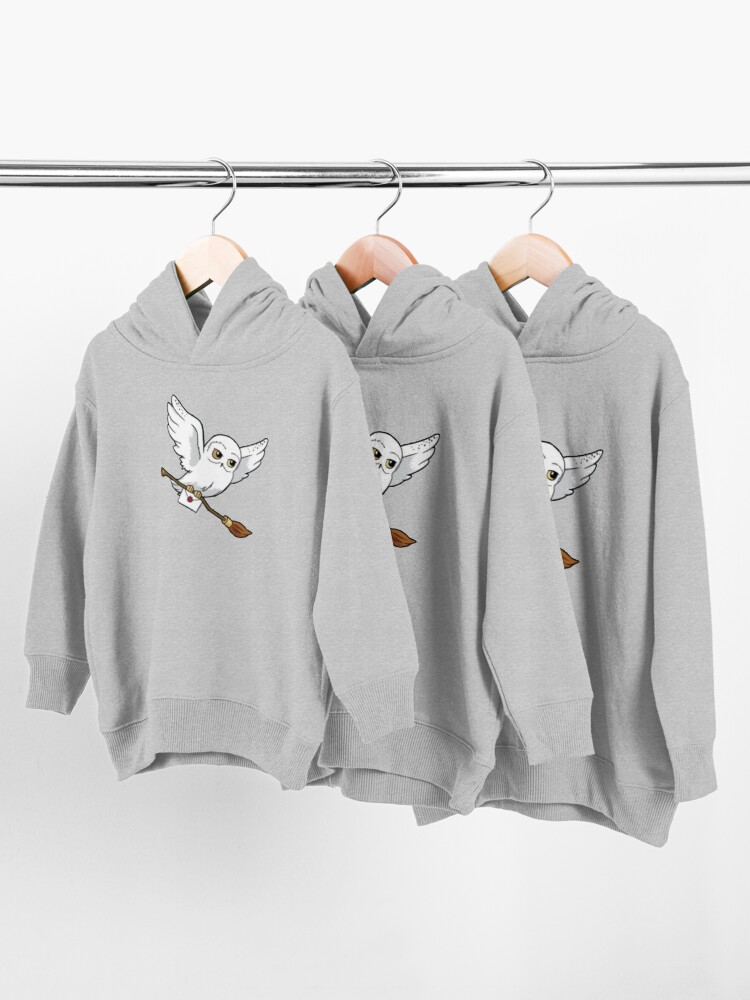Alternate view of magical owl Toddler Pullover Hoodie
