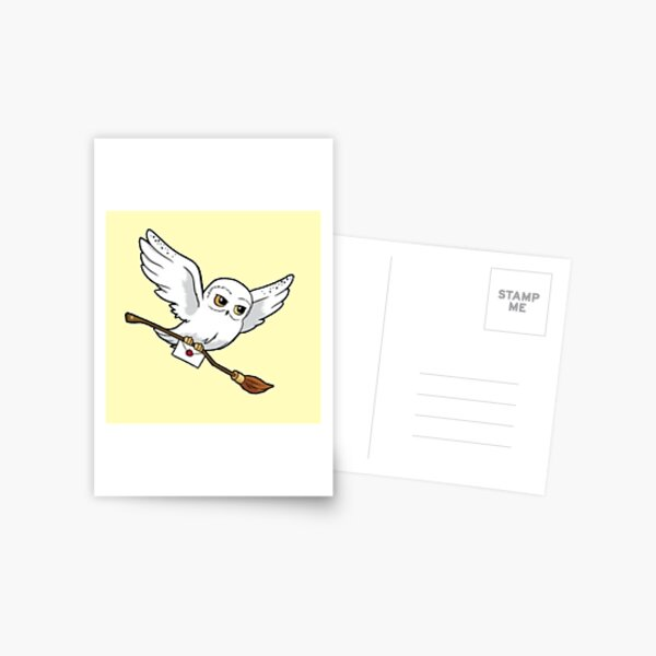 hibou magique Carte postale