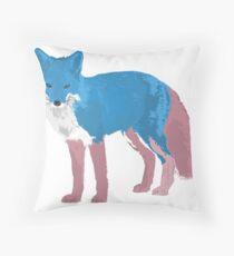 Transgender Fox Throw Pillow