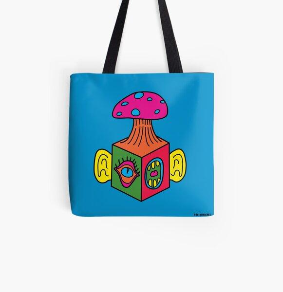 Mind Block All Over Print Tote Bag