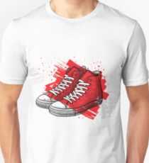 Sneakers drawing Unisex T-Shirt