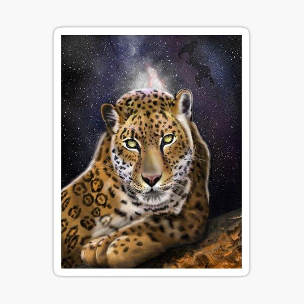 #4 of 5 Big Cat Series Leopard in Twilight Backdrop Sticker