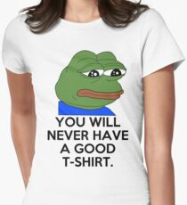 Feels Bad Man Womens Fitted T-Shirt