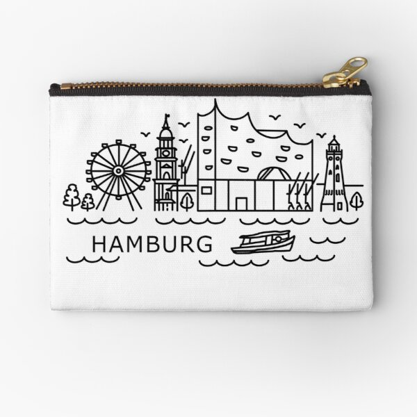 Hamburg in Artline style Zipper Pouch