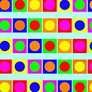 Geometric Colours 1 - Circles And Squares by Printpix