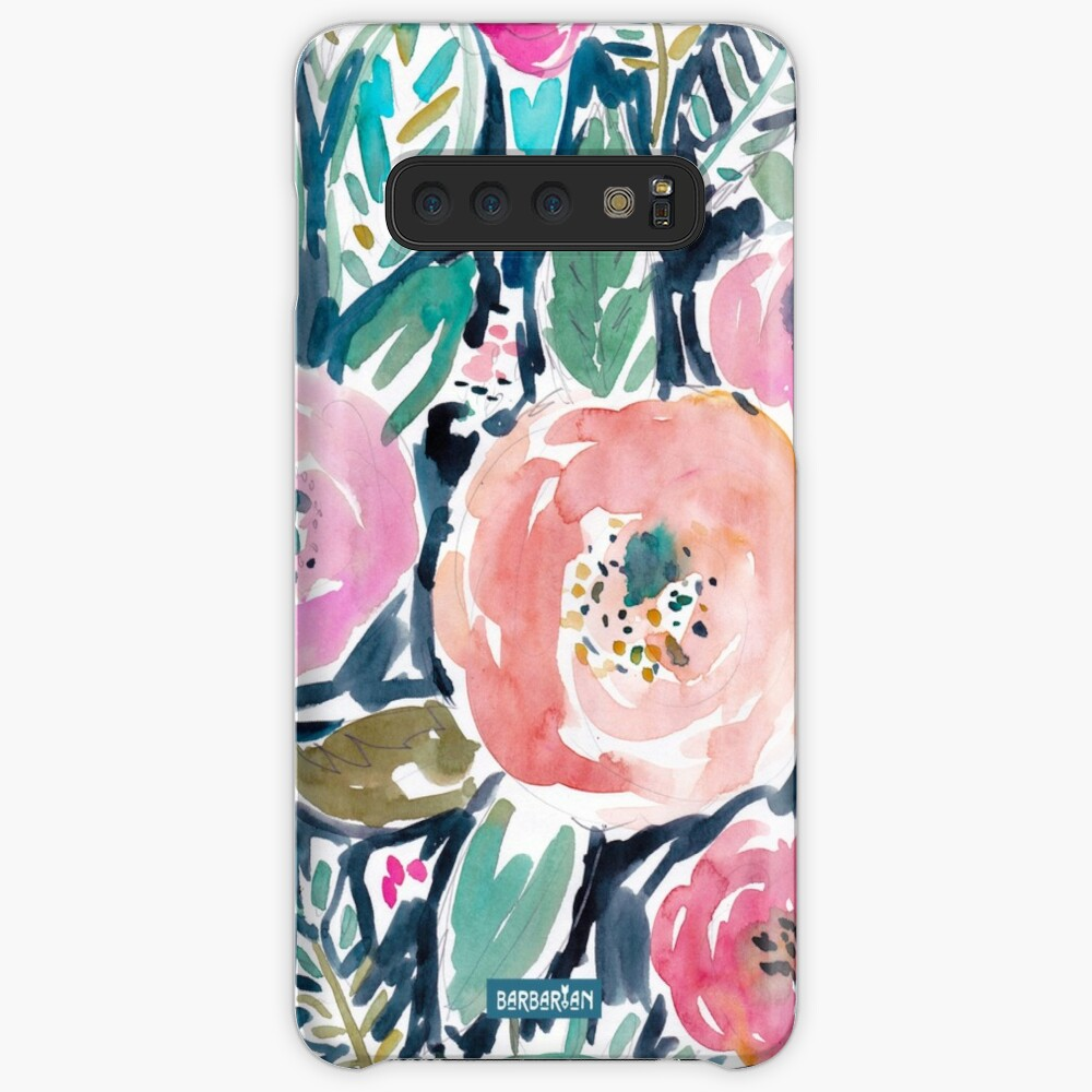 Gardens of Capitola Watercolor Floral Case & Skin for Samsung Galaxy