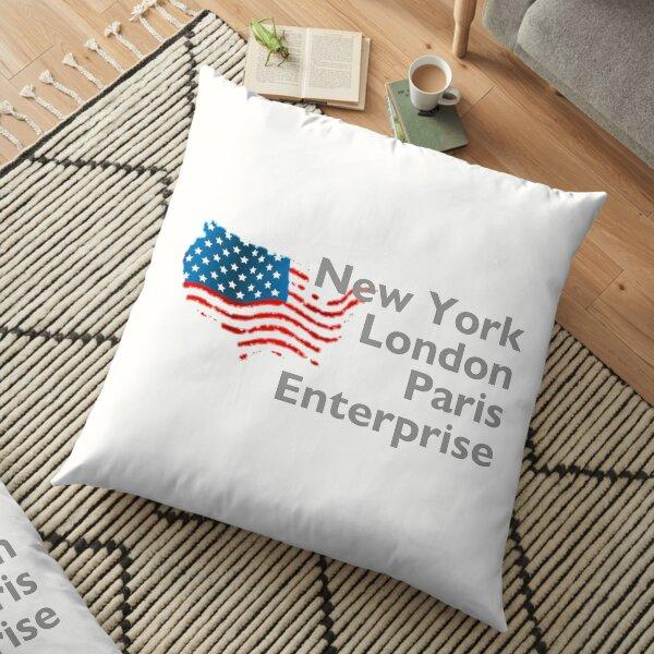 New York London Paris Enterprise Floor Pillow