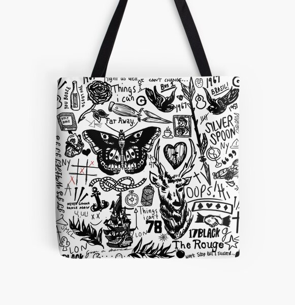 Tattoos Collage All Over Print Tote Bag