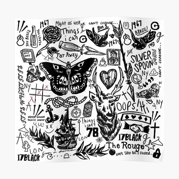 Collage de tatuajes Póster
