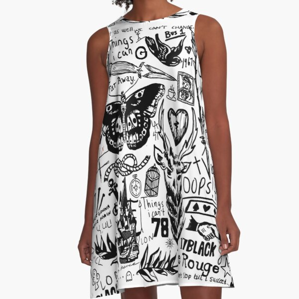 Tattoos Collage A-Line Dress