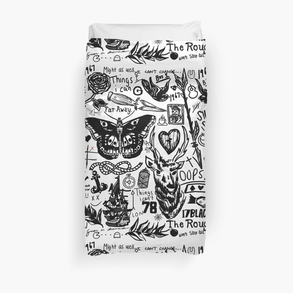 Tattoos Collage Duvet Cover