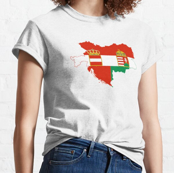 Austro-Hungarian Empire Flag Map Classic T-Shirt