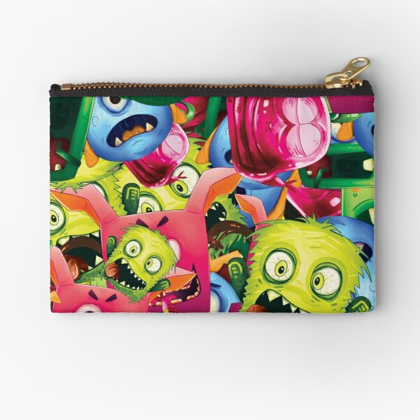 Monsters Repeatable Pattern Zipper Pouch