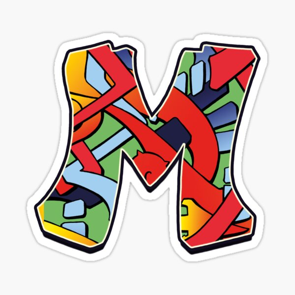 Letter M Color Sticker