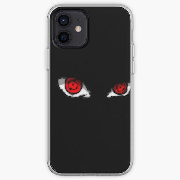 yeux rouges fous Coque souple iPhone