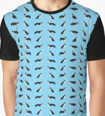 Border Collie Collage Pattern Graphic T-Shirt