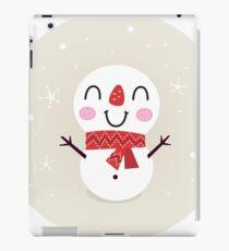 Beautiful funny Snowman { Retro style } iPad Case/Skin