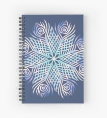 Peacock feathers / Mandala Spiral Notebook
