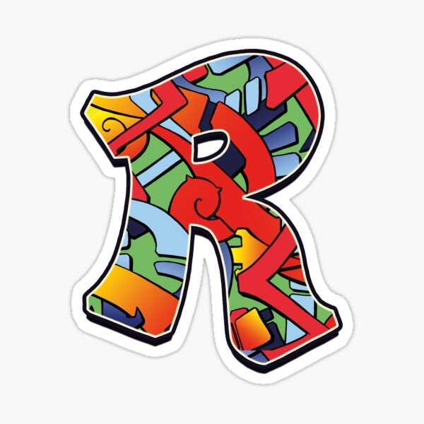 Letter R Color Sticker