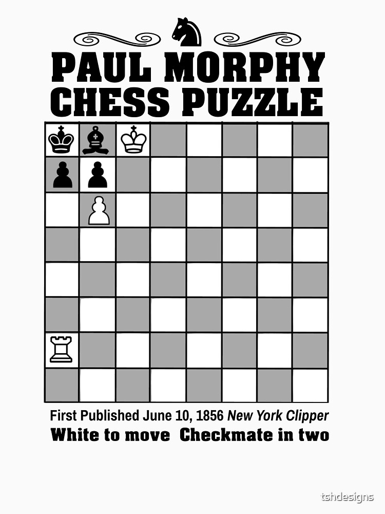 Paul Morphy--Chess Puzzle by tshdesigns